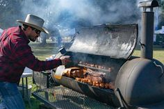 Chow down on barbecue at Blues, Bandits, and BBQ. Fort Worth, Free Food, Barbecue, Dallas, Things To Do, Blues, Texas, Things To Make, Barrel Smoker