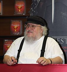 "George R.R. Martin is a captivating writer. I recommend his ""A song of Ice and Fire"""