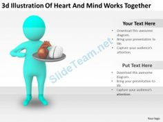3D Illustration of Heart and Mind Works Together Ppt Graphics Icons Powerpoint #Powerpoint #Templates #Infographics