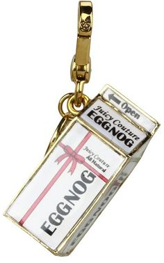 limit edition juicy couture charms | Juicy Couture - Limited Edition 2012 Eggnog Charm (Gold) - Jewelry ...