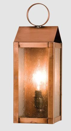"4 Inch W Revere Lantern Wall Sconce - 4 Inch W Revere Lantern Wall Sconce Theme: MISSION ARTS & CRAFTS Product Family: Revere Product Type: WALL SCONCES Product Application: WALL SCONCE -- WALL SCONCE Color: ZASDY NATURAL COPPER Bulb Type: CNDL Bulb Quantity: 1 Bulb Wattage: 60 Product Dimensions: 12""H x 4""W x 4.5""DPackage Dimensions: NABoxed Weight: lbsDim Weight: 24 lbsOversized Shipping Reference: NAIMPORTANT NOTE: Every Meyda Tiffany item is a unique handcrafted work of art. Natural…"