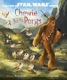 Star Wars Last Jedi Chewie and the Porgs book!