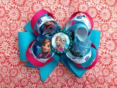 Frozen Hair Bow on Etsy, $6.00