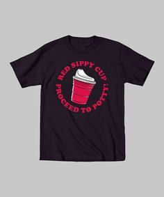 Love this Black 'Red Sippy Cup' Tee - Toddler on #zulily! #zulilyfinds