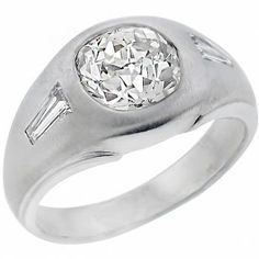 Antique 1.82ct Old Mine Cut Diamond 14k White Gold Ring - See more at: http://www.newyorkestatejewelry.com/rings/1920s-1.82ct-diamond--ring/24849/1/item#sthash.Zvo5beux.dpuf