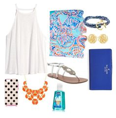 """""""Preppy Palm"""" by m-scanlon ❤ liked on Polyvore featuring Lilly Pulitzer, Kate Spade, H&M, Pura Vida and Susan Shaw"""