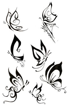 simple butterfly tattoo designs ideas about small butterfly Simple Butterfly Tattoo, Tribal Butterfly Tattoo, Butterfly Tattoo Designs, Butterfly Design, Simple Tattoo Designs, Purple Butterfly, Et Tattoo, Tattoo Drawings, Body Art Tattoos