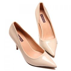 d1ed559f9a804d Work Patent Leather and Pointed Toe Design Pumps For Women