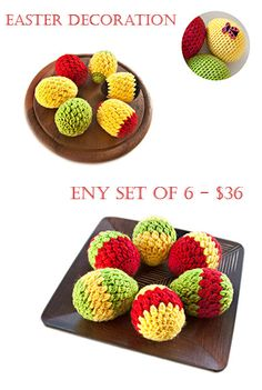 Crochet Easter Eggs, Easter egg, Crochet eggs, Eggs, Easter decoration, Easter basket, Spring Celebrations, Handmade, Home decor, set of 6