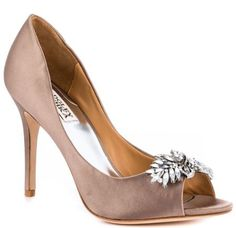 Badgley Mischka's Beige Buzz - Taupe Satin