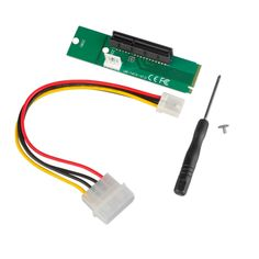 M.2 NGFF SSD Male to PCI-e Express 4X Female Converter Adapter Card Board w/ 4pin Power Supply Cable Cord for Bitcoin BTC Mining #Affiliate