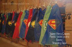 Crazy easy superhero capes: Superhero Party from @slkooiman at Arena Five