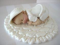 Baby Cake Topper Boy Baptism Christening Gown Blanket Centerpiece Favors | eBay
