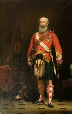 Colonel Alexander Sebastian Leith-Hay (1818–1900) of 93rd(Sutherland) Highlanders c.1868 Painted by John MacLaren Barclay.