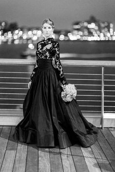 black wedding dresses, personally I would never but I love the style of this gown