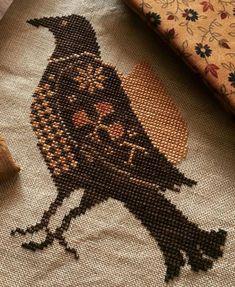 Fall Cross Stitch, Cross Stitch Needles, Simple Cross Stitch, Cross Stitch Samplers, Cross Stitching, Cross Stitch Embroidery, Cross Stitch Patterns, Halloween Embroidery, Halloween Cross Stitches