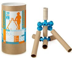 Construction toys made of cardboard tubes (Toobalink)