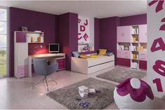 Funky Woodline creme Tmavofialová / Funky Woodline Cream dark purple Dark Purple, Children, Room, Design, Kid, Kids, Child, Sons