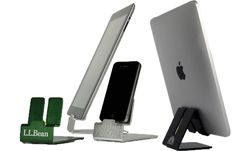 iPad stand - developed by an 11 year old kid.  www.dzdock.com