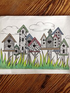 My birdhouse zentangle