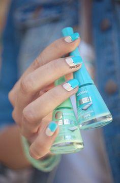 Pshiiit: Bourjois et ses nouvelles couleurs d'été - Nail art Color Block