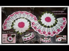Step by step path table in crochet double Margarida - YouTube
