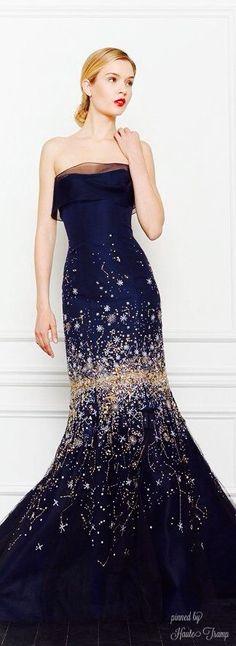 Carolina Herrera Sparkle Midnight Blue Gown of Gorgeous! ht Cassandra? jaglady                                                                                                                                                      More