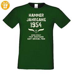 Modisches 63. Jahre Fun T-Shirt zum Männer-Geburtstag Hammer Jahrgang 1954 Ideale Geschenkidee zum Jubeltag Farbe: dunkelgrün Gr: XXL (*Partner-Link)