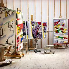 Roy Lichtenstein's studio. Photograph by Laurie Lambrecht.