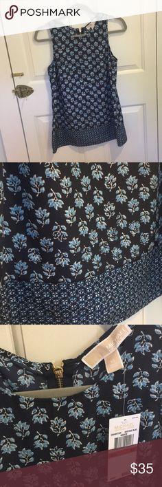 Michael Kors blue flowy top Never been worn! Size xs MICHAEL Michael Kors Tops Tank Tops