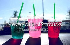 Try every drink at Starbucks