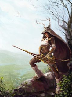 fantasy women archers | 640x872_12468_Huntress_2d_fantasy_girl_woman_archer_hunter_picture ...