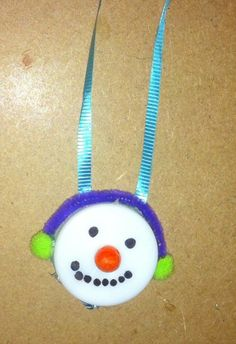 Image result for tea light snowman ornaments