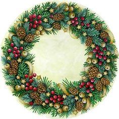 Pinecone and Berry Wreath --  by Elena Vladykina