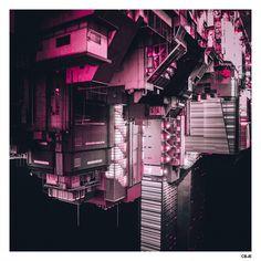 ※ Sprawl mothership somewhere in Old Shinjuku. #DERIVE #CBJE #東京
