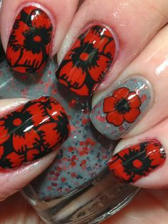 Remembrance Day Poppies by Canadian Nail Fanatic
