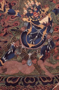 Yama Dharmaraja (Buddhist Protector)  himalayanart.org   http://www.himalayanart.org/image.cfm/159.html