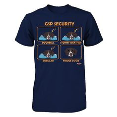 German Shorthaired Pointer shirt  GSP Security  Cute by ToonTycoon