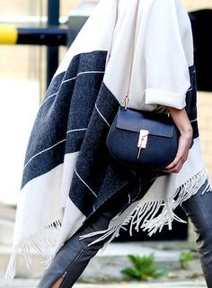 A poncho has never looked so stylish.