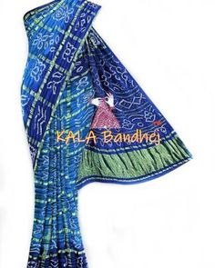 Bandhani Saree, Silk Sarees, Cotton Silk, Silk Satin, India Usa, Tie And Dye, D Craft, End Of Season Sale, Green Fabric