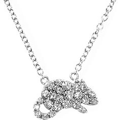 QEELIN Petite Rat white gold diamond pendant necklace. £ 1,170. Classical elegance meets casual chic in Qeelin's Petite collection. Made of white gold and diamonds, the collection's understated bracelets, necklace, rings can be mixed and matched for any occasion. Symbolising activity and charm, this 18K white gold rat necklace is a style to be cherished.