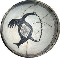 Mimbres bowl, Grand County, New Mexico, ca. A.D. 1200-1450.