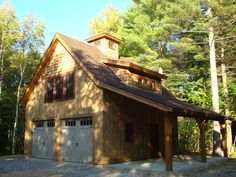 Barn Garages Pre Cut Timber Frames For Buildings Storage Garage Apartment Plans, Garage Apartments, Timber Frame Garage, Timber Frames, Ajout D'un Garage, Plan Garage, Garage Ideas, Rv Garage, Garage Kits