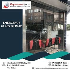 Professional Glass Window Services and Repair provide a fast, easy, and affordable price for emergency glass repair service in VA, MD, and DC areas. For more information visit us at Professional Glass Window Services and Repair  #EmergencyGlassRepair #DCEmergencyGlassRepair #emergencyboardup #ResidentialGlassRepair #CommercialGlassRepair #BrokenWindowGlassRepair #glassrepair #glassreplacement #virginia #Washington #DC #MD Broken Window, Glass Repair, Glass Replacement, Windows, Window