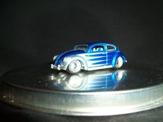 Maisto VW Volkswagen Beetle Blue All Stars 1:64 Scale Loose Rubber Tires #Maisto