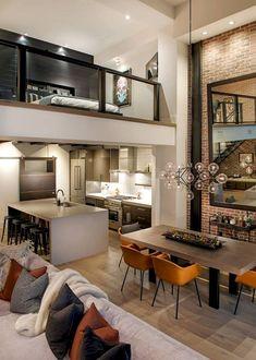 Right Contemporary Living Room Furniture – Loft İdeas 2020 Loft Interior Design, Loft Design, Design Case, Interior Design Inspiration, Design Ideas, Design Hotel, Duplex Design, Industrial Interior Design, Attic Design
