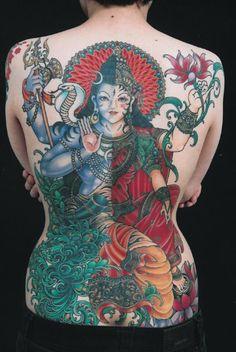 Shiva/Lakshmi Tattoo.  I wouldn't get something like the but it's still amazingggg
