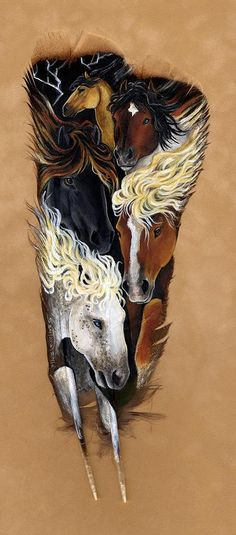 Mustang Thunder Painting by Sandra SanTara - Mustang Thunder Fine Art Prints and Posters for Sale