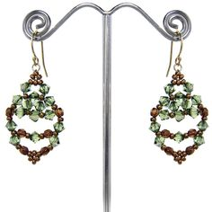 Free earring pattern: the Leaf Earrings