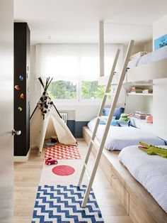 Shared room with built in bunk beds